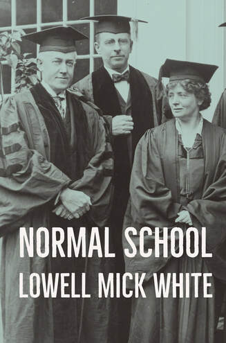 Normal School, Lowell Mick White, academia, higher education, teaching, conspiracy, murder, low-viscosity sex poems